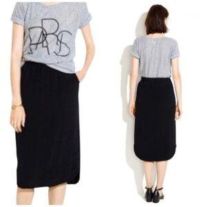 Madewell Black Midi Skirt